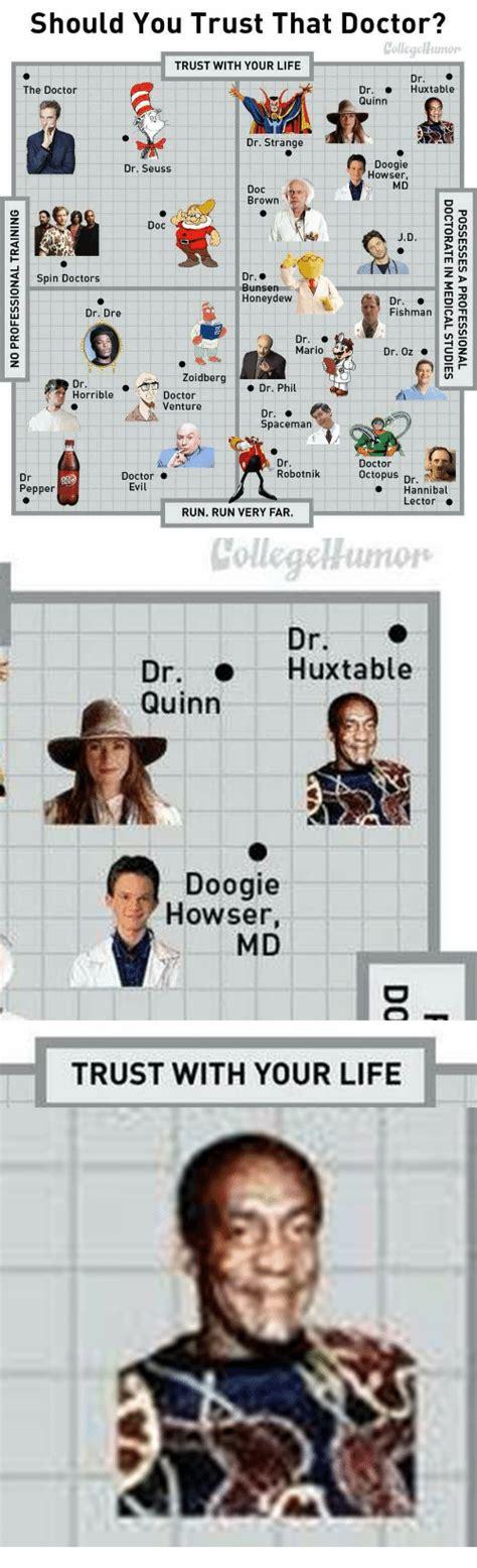 dr doctor trust should seuss doogie howser strange collegehumor md spaceman bunsen honeydew hannibal meme