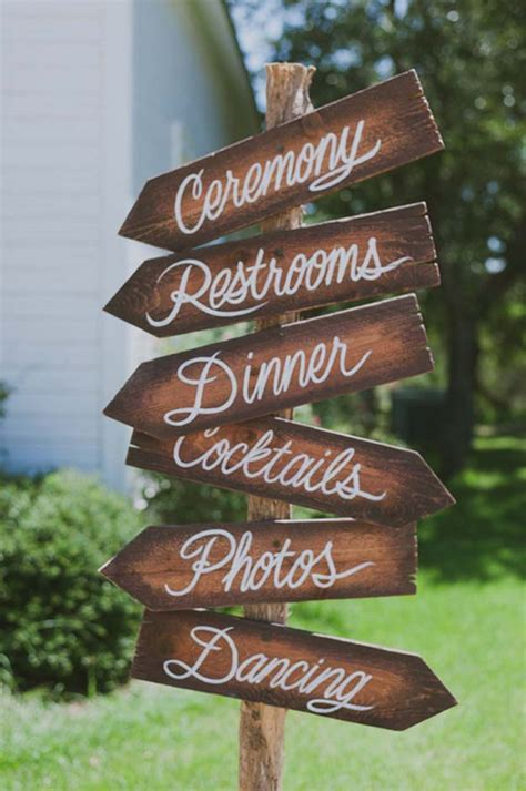 21 Stylish Rustic Wedding Signs You Want To Recreate For