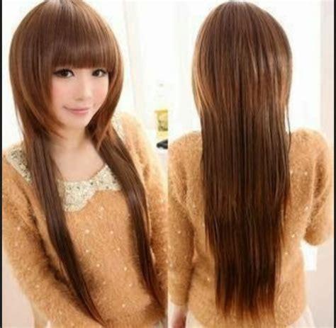 model rambut panjang  wajah bulat  rambut tipis
