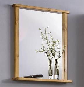 Holz Spiegel Mit Ablage : wandspiegel bad flur spiegel mit rahmen und ablage massiv holz kiefer honig ebay ~ Indierocktalk.com Haus und Dekorationen