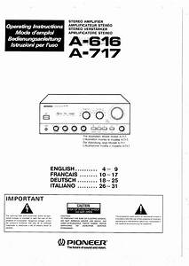 Owner S Manual For Pioneer A-301