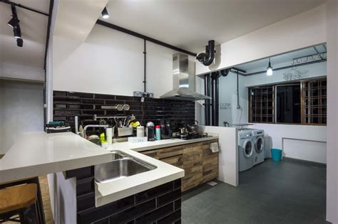 Japanese Kitchen High St Northcote by How To Plan A Practical And Efficient Laundry Area Houzz