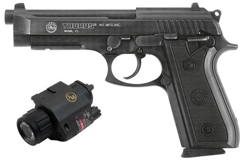 Taurus Pt92 Af 9mm Semi Automatic Pistol With Laser/light