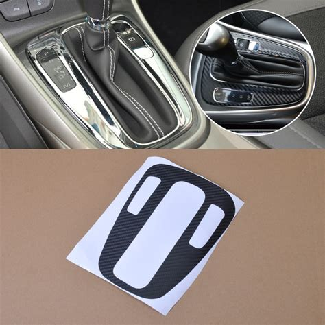 carbon fiber panel gear shift protective cover sticker for chevrolet holden malibu 2012 2013