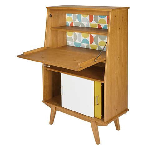 retro style desk l paulette retro style writing desk at maisons du monde
