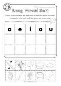 Long Vowel Cut and Paste Worksheets