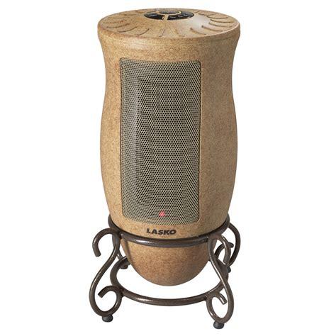 best ceramic fan heater shop lasko 5 118 btu ceramic tower electric space heater