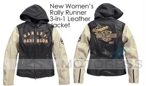 Harley-davidson New Womens Rallyrunner 3-in-1 Leather