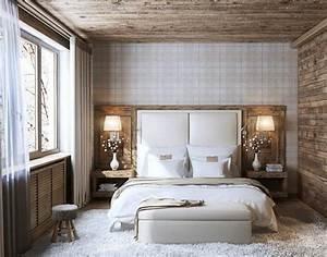 amenager la chambre parentale avec nos 56 propositions With chambre blanche et bois