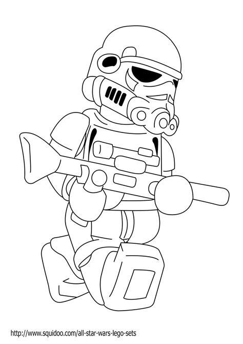 Lego Star Wars Coloring Pages Printable Star Wars