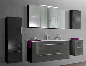 Hänge Unterschrank Bad : sam 5tlg badezimmer set spiegelschrank grau 120 cm verena demn chst ~ Whattoseeinmadrid.com Haus und Dekorationen