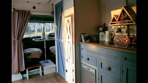 rustic camper van conversion full  citroen relay