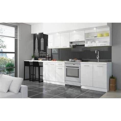 achat plan de travail cuisine jasny cuisine complète l 2m40 avec plan de travail blanc