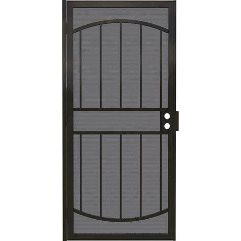 steel door lowes shop gatehouse gibraltar black steel surface mount single