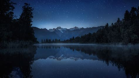 quiet night lake wallpaper  hd nature downloads