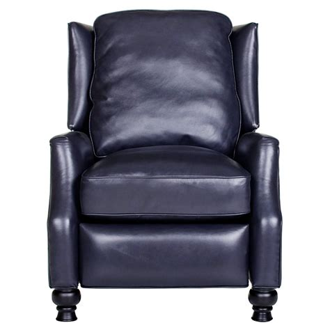 charles recliner chair turned baron navy leather