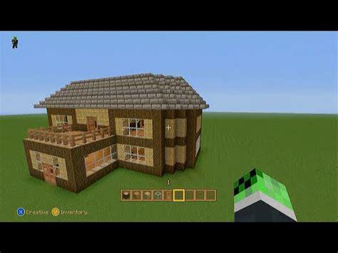 easy survival minecraft house tutorial xbox youtube