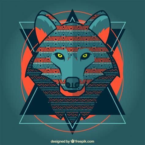 stilisierte wolf  der kostenlosen vektor