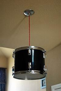 Real drum shade pendant light remodel