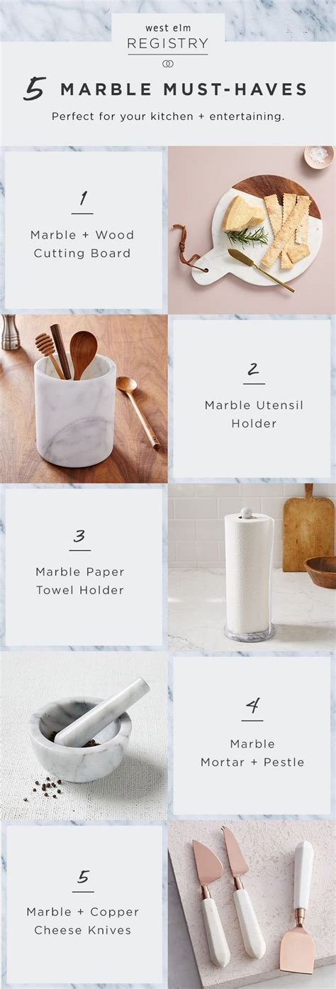 Kitchen Kaboodle Gift Registry by Engaged These Marble Kitchen Accessories Are Wedding