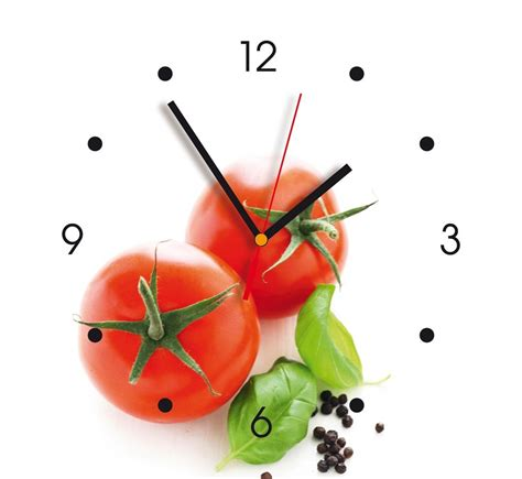 horloges de cuisine horloge murale déco contento tomates