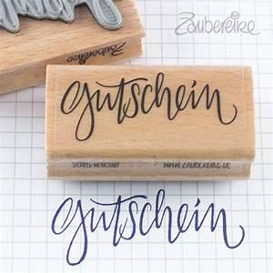 One De Gutschein : textstempel gutschein im handlettering stil von zaubereike ~ Watch28wear.com Haus und Dekorationen