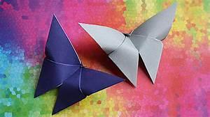 Was Kann Man Aus Einem Schuhkarton Basteln : origami schmetterling falten faltanleitung leicht ~ Frokenaadalensverden.com Haus und Dekorationen