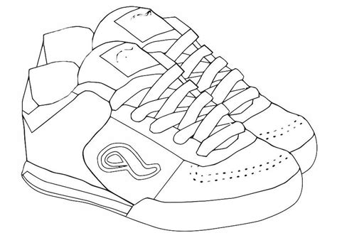 shoes coloring page az coloring pages