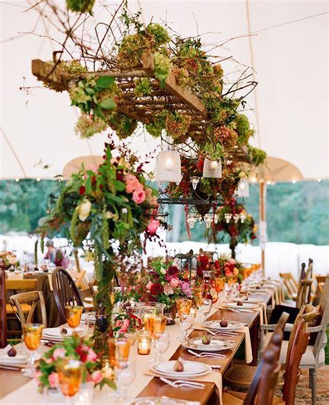 gorgeous hanging floral arrangements   wedding