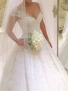 luxury beading lace ball gown princess wedding dress With goodwill wedding dress sale 2017