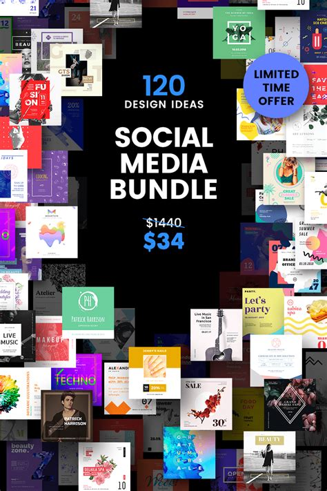 social media cover header post design bundle