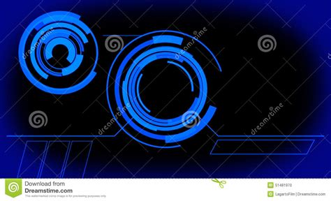 Touch Screen Animated Wallpapers - futuristic holographic monitor panel blue