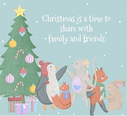 Friends Afar Christmas Missing Merry Cards Greetings