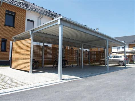 unterkonstruktion trapezblech garage vierfach carport mit trapezdach fertiggaragen schweiz