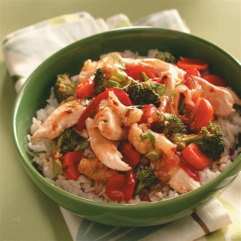 chicken vegetable stir fry recipe taste  home