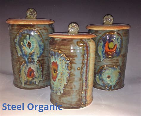 canister sets for kitchen ceramic handmade 3 ceramic kitchen canister set m l xl size
