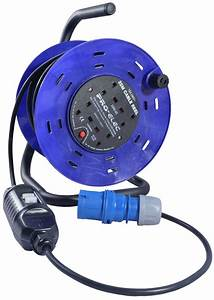 25m 240v Four Socket Cable Reel Extension Lead With Rcd 4