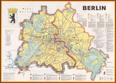 berlin a cold war map showing the berlin wall as a