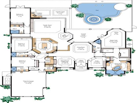 luxury home floor plans  secret rooms luxury home