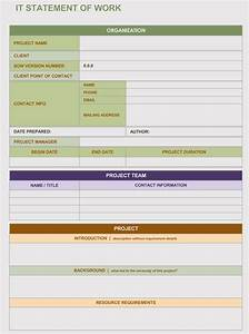 Project Templates Word 20 Statement Of Work Templates Excel Word Write Pro Sow