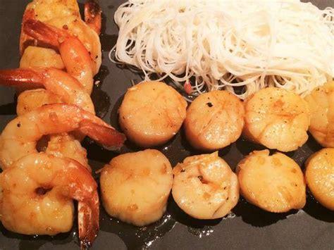 recettes de petoncles  crevettes