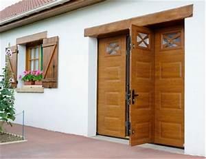 porte de garage sectionnelle plafond ou laterale porte With porte de garage sectionnelle avec porte entrée pvc ou alu