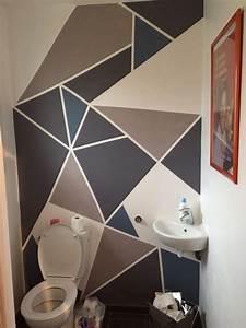 Etagere Murale Triangle : peinture murale triangles g om trique mes cr ations pinterest triangles ~ Teatrodelosmanantiales.com Idées de Décoration