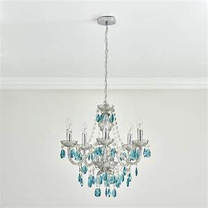 Wilko chandelier arm smoke with teal at