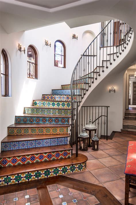 Mexican Leather Chairs by Stylish Mexican Tiles Convention Los Angeles Mediterranean
