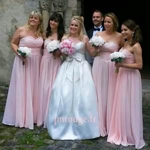 Robe Rose Pale Demoiselle D Honneur : 3 robes de demoiselle d 39 honneur charmantes robe ~ Preciouscoupons.com Idées de Décoration
