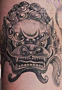 New Foo Dog Head Tattoo