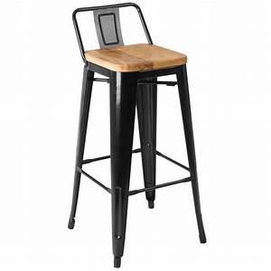 Chaise Bar Bois : tabouret de bar bois et metal ~ Teatrodelosmanantiales.com Idées de Décoration