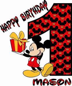 Happy Birthday Mickey Mouse : mini mickeys name and happy birthday mickey mouse t shirt onesie 264 ebay ~ Buech-reservation.com Haus und Dekorationen