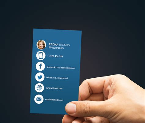 photography business card design template